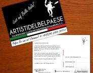 Artisti del Belpaese e.V. Postkartendesign