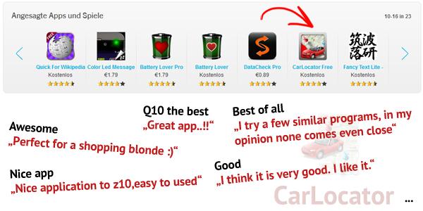 CarLocator für BlackBerry10