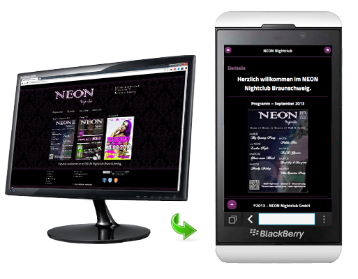 NEON Nightclub Mobile