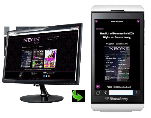 NEON Nightclub Mobile