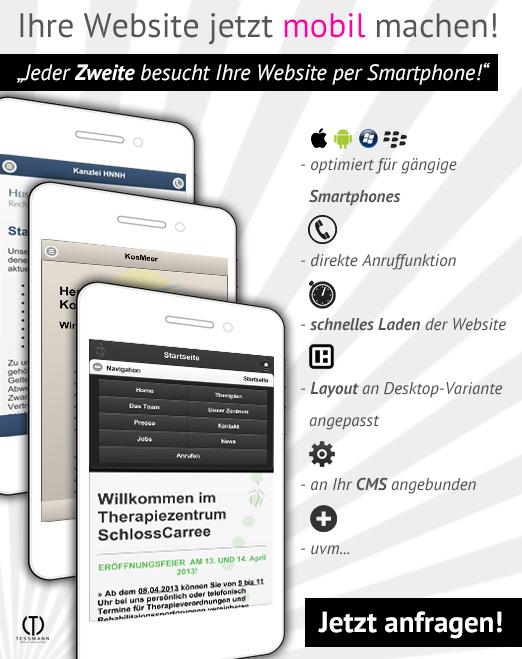 Ihre Website jetzt mobil machen!